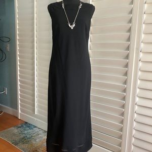 Ann Taylor Loft black dress Midi w/detail - 8